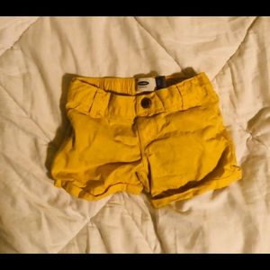 Yellow 4T Old Navy Jean Shorts